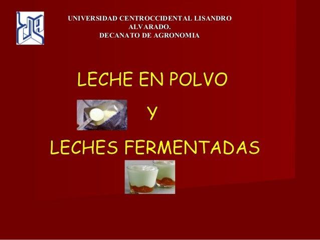 UNIVERSIDAD CENTROCCIDENTAL LISANDROUNIVERSIDAD CENTROCCIDENTAL LISANDRO ALVARADO.ALVARADO. DECANATO DE AGRONOMIADECANATO ...