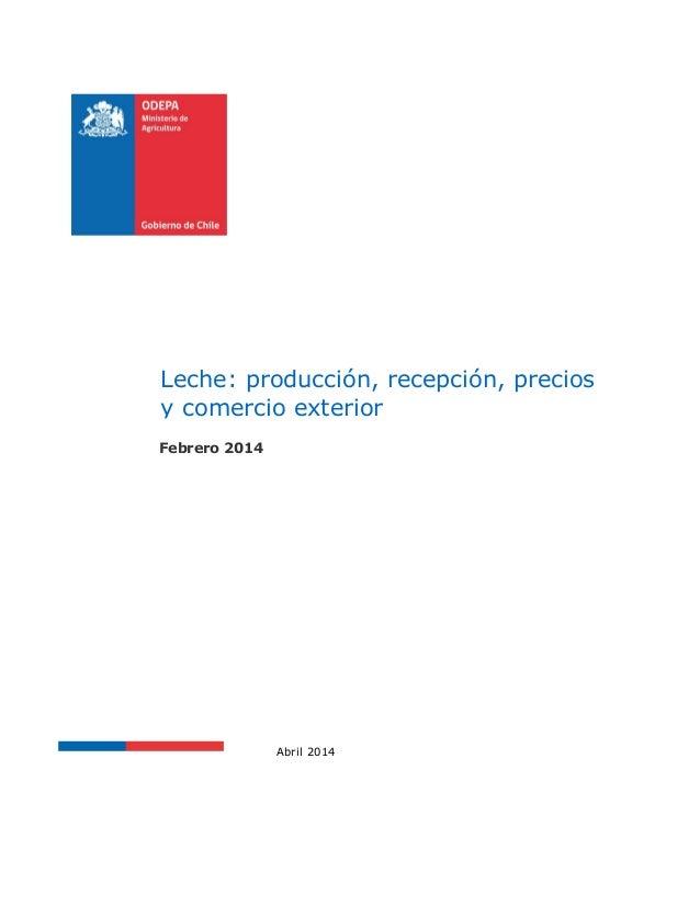 dc9dfbf30b38f Leche producción recepción precios comercio exterior 2014