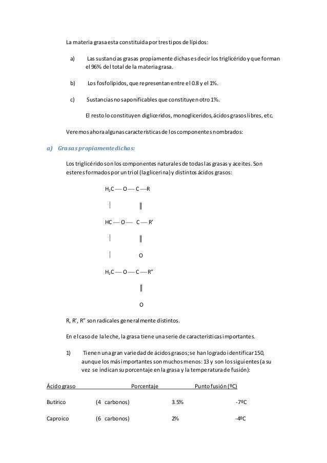 La materiagrasaesta constituidaportrestiposde lípidos: a) Las sustanciasgrasas propiamente dichasesdecirlostriglicéridoyqu...