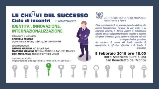 Le chiavi del successo
