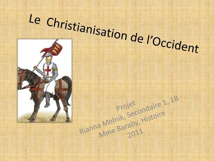 La Diffusion de la Christianisme