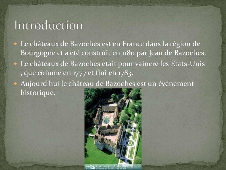 Le châteaux de Bazoches est en France dans la région de Bourgogne et a été construit en 1180 par Jean de Bazoches.<br />Le...