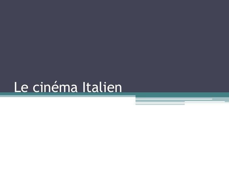 Le cinéma Italien<br />
