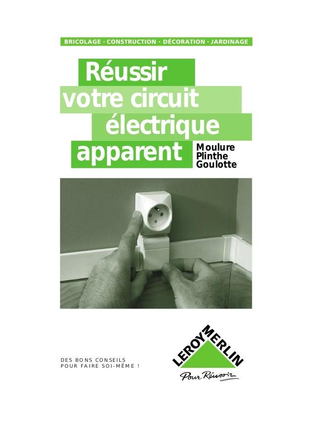 Réussir votre circuit électrique apparent D E S B O N S C O N S E I L S P O U R F A I R E S O I - M Ê M E ! Moulure Plinth...