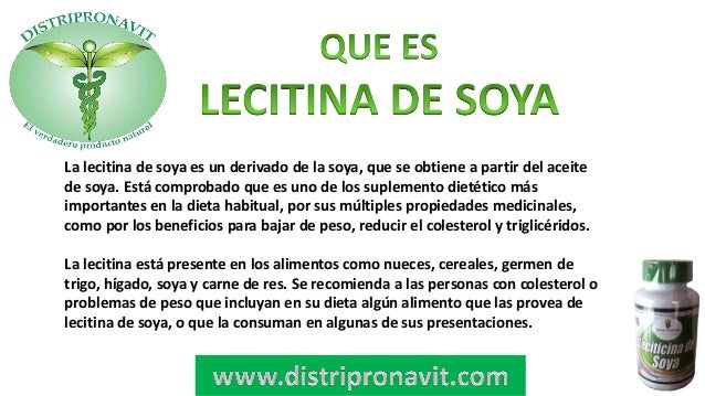 Propiedades de la lecitina de soya para adelgazar