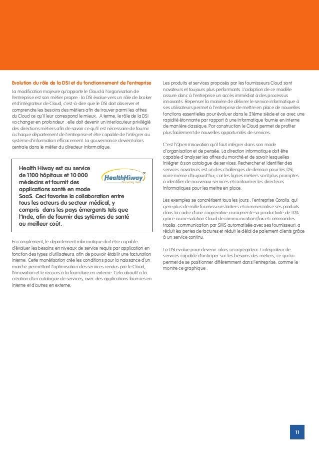Evolution du rôle de la DSI et du fonctionnement de l'entreprise             Les produits et services proposés par les fou...