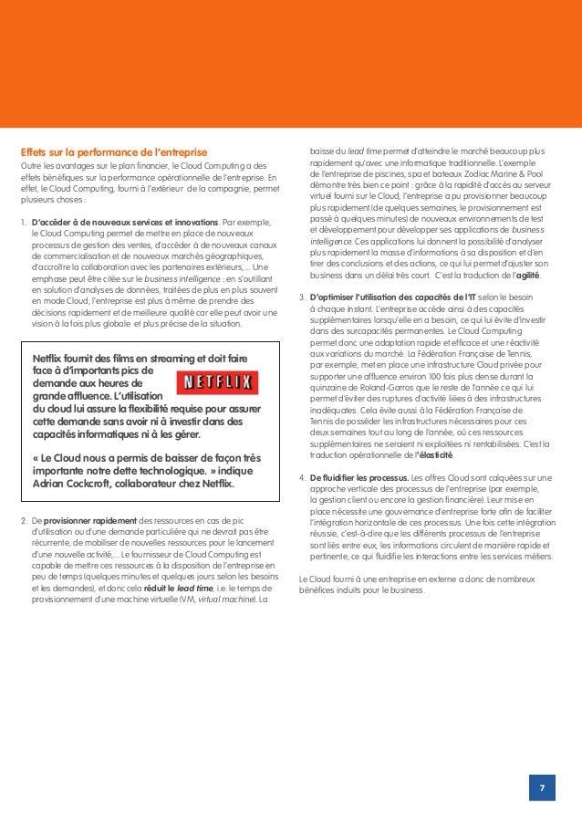 Effets sur la performance de l'entreprise                                      baisse du lead time permet d'atteindre le m...