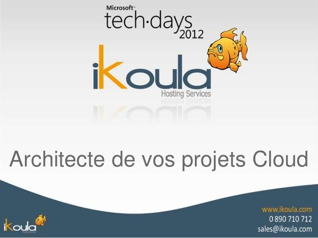 Architecte de vos projets Cloud
