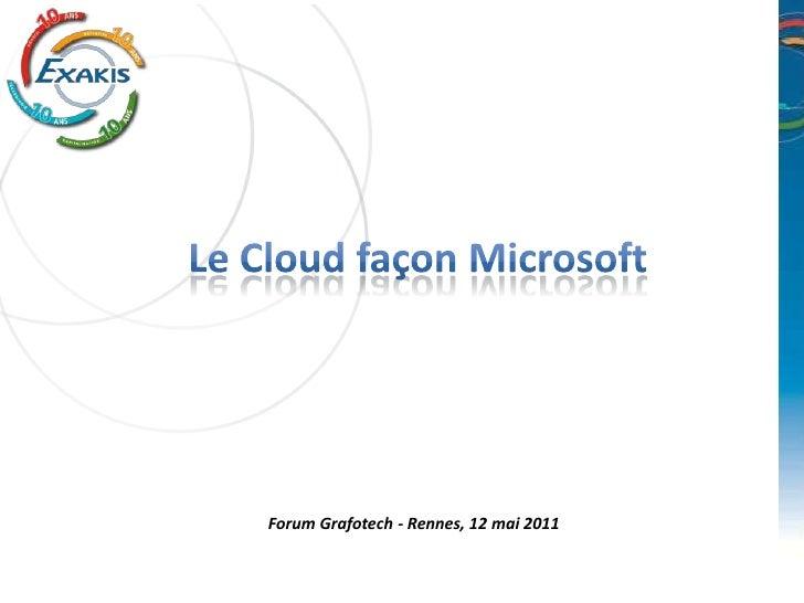Forum Grafotech - Rennes, 12 mai 2011