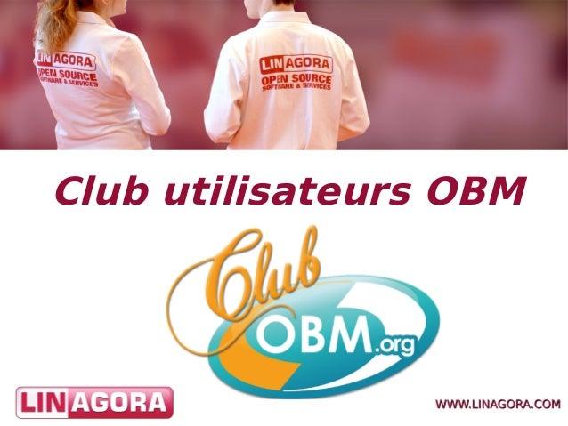 Club utilisateurs OBM