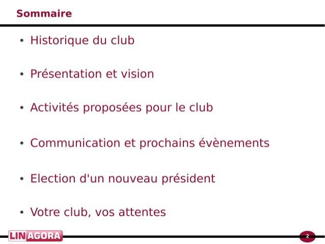 Le club utilisateurs obm Slide 2
