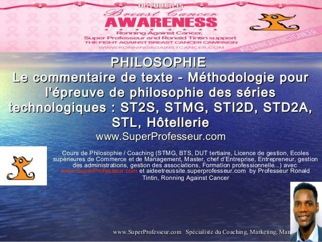 méthodologie dissertation philosophie terminale st2s