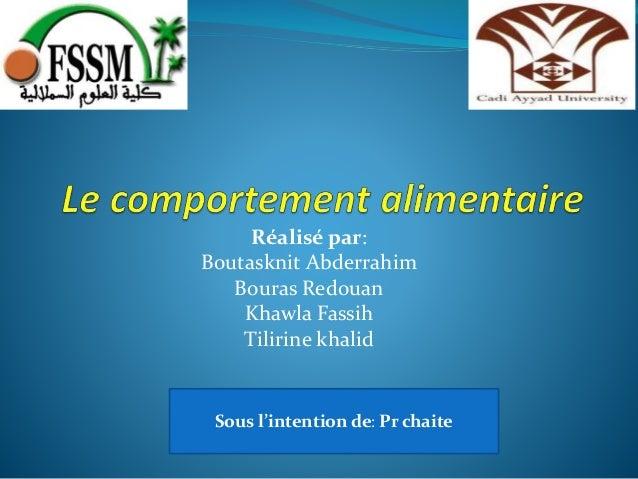Réalisé par: Boutasknit Abderrahim Bouras Redouan Khawla Fassih Tilirine khalid Sous l'intention de: Pr chaite