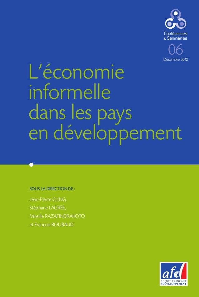 L'economie informelle dans les pays en developpement