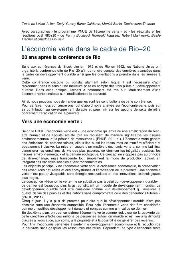 Texte de Luiset Julien, Derly Yurany Barco Calderon, Meniaï Sonia, Dechevrens Thomas Avec paragraphes « le programme PNUE ...