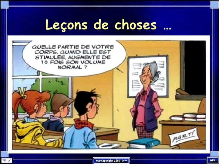 Leçons de choses …