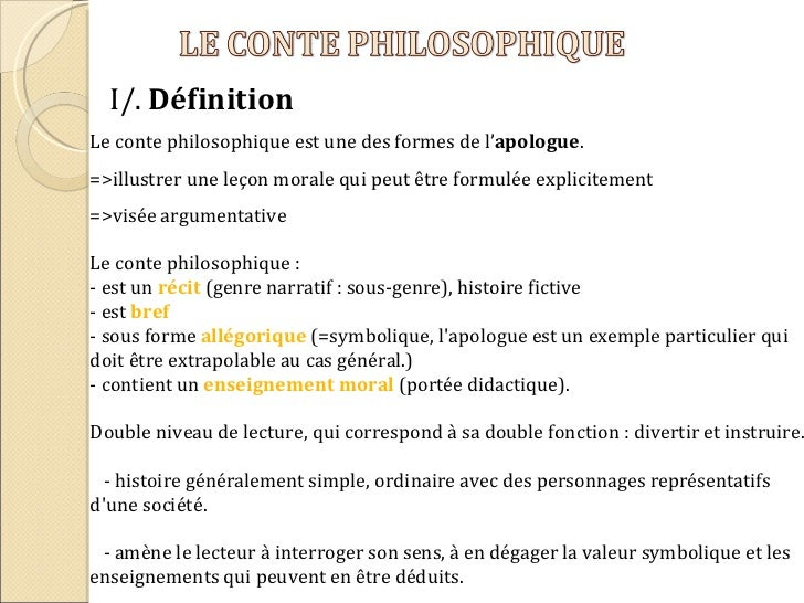 Dissertation conte philosophique argumentation