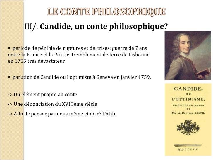 Dissertation conte philosophique candide