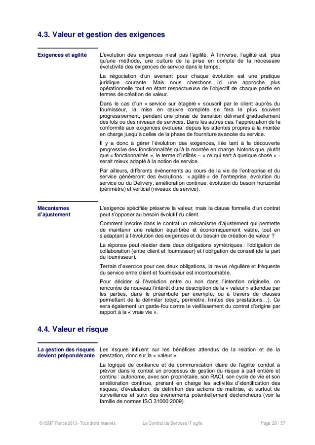 le contrat de services agile livre blanc itsmf