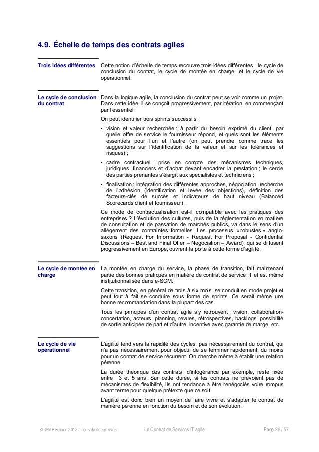 Le Contrat De Services Agile Livre Blanc Itsmf France