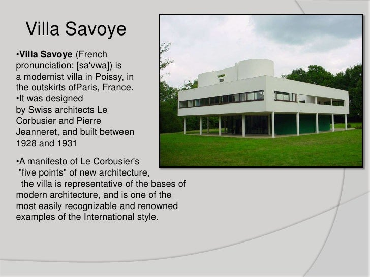 Five points in architecture used by le corbusier architecture essay