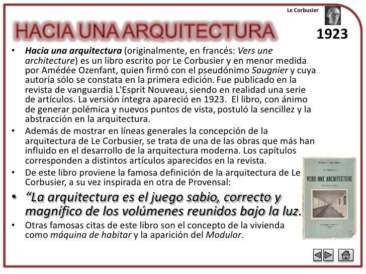 Le corbusier for Hacia una arquitectura