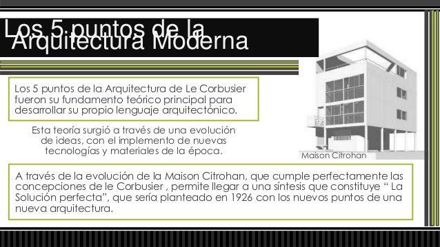 PILOTIS en plantaLos 5 puntos Moderna Arquitectura de la• PLANTA BAJA SOBRE PILOTESLos Pilotes son elementos estructurales...