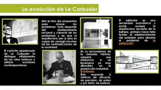 La evolución de Le Corbusier   Le Corbusier ilustra las páginas donde    desarrolla éstas consideraciones con    imágenes...