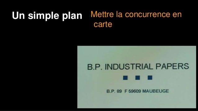 Un plan simple Éliminer la concurrence