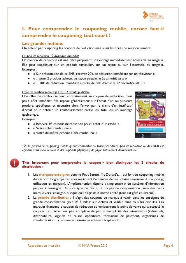 Reproduction interdite © MMA France 2013 Page 4 I. Pour comprendre le couponing mobile, encore faut-il comprendre le coupo...