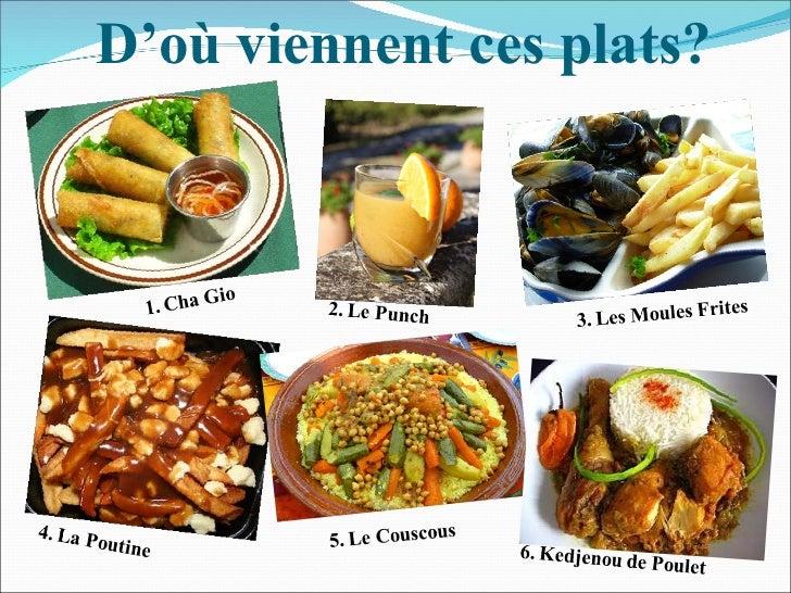Le cours interculturel la cuisine francophone for Cuisine 728 montpellier
