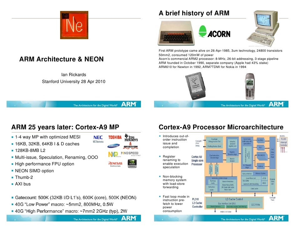 A brief history of ARM                                                                  First ARM prototype came alive on ...