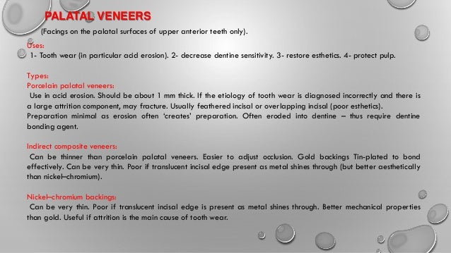 Lect 6 indirect esthetic adhesive restorations