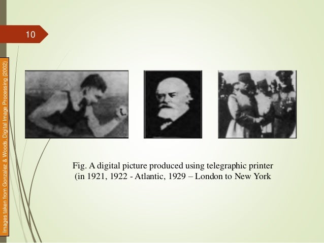 Fig. A digital picture produced using telegraphic printer (in 1921, 1922 - Atlantic, 1929 – London to New York Imagestaken...