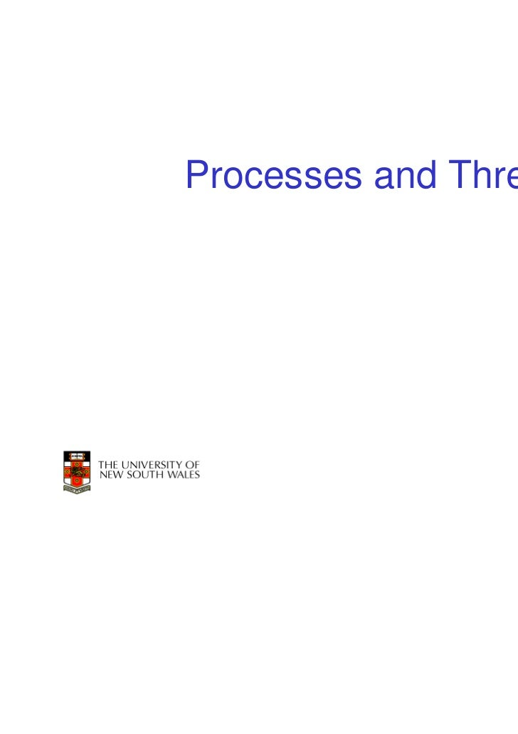 Processes and Threads                        1