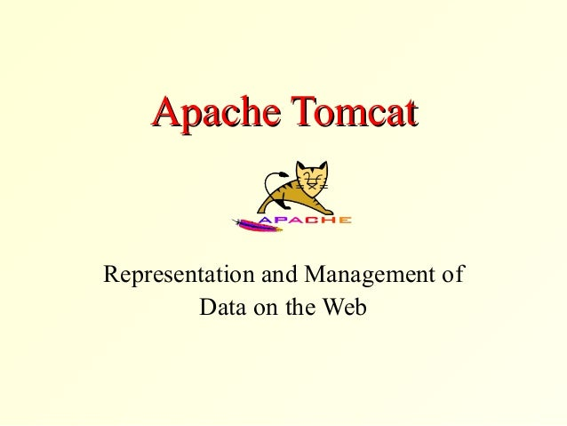 Apache TomcatApache Tomcat Representation and Management of Data on the Web