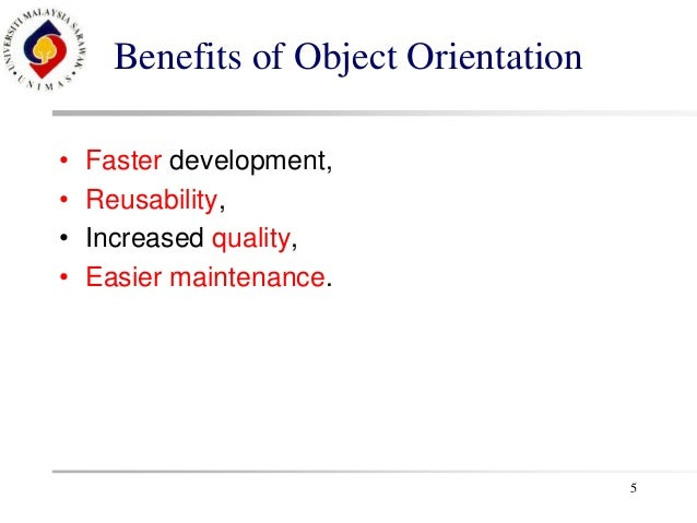 Object Oriented Software Development revision slide