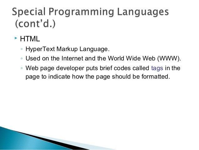 Lect 1. introduction to programming languages