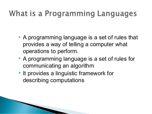 Essay programming languages