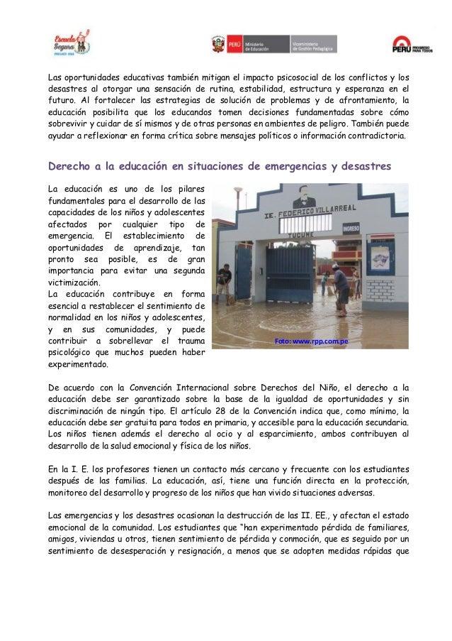 NORMAS MINIMAS PARA LA EDUCACION EN SITACIONES DE EMERGENCIA Slide 3