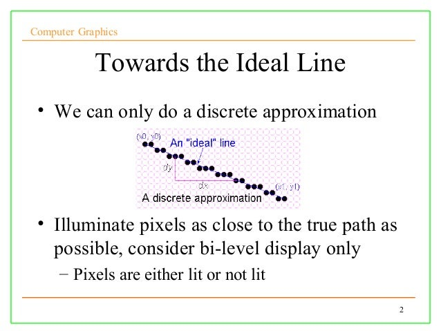Line Drawing Algorithm In Computer Graphics Notes : Lect cg