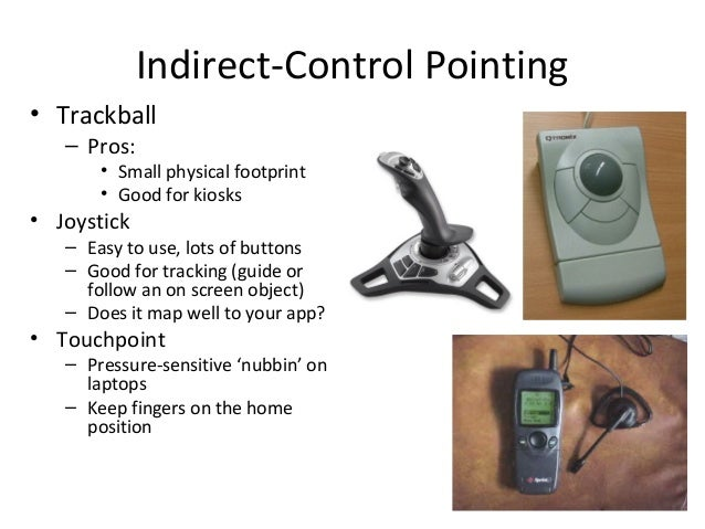 pointing devices Disabil rehabil assist technol 20105(5):351-8 doi: 101080/ 17483100903105599 development of an integrated pointing device driver for the disabled shih ch(1), shih ct author information: (1)department of special education, national dong hwa university, hualien, taiwan, republic of china purpose: to help.
