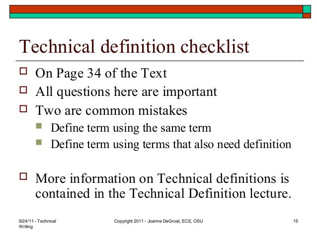 technical writing basics Technical writing: how to's, tutorials, and directions we need a set of instructions for some of our equipment how do you write quality, step-by-step instructions.
