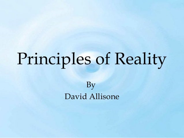 Principles of Reality By David Allisone