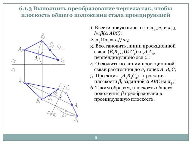 Начертателная геометрия способy преобразования чертежа