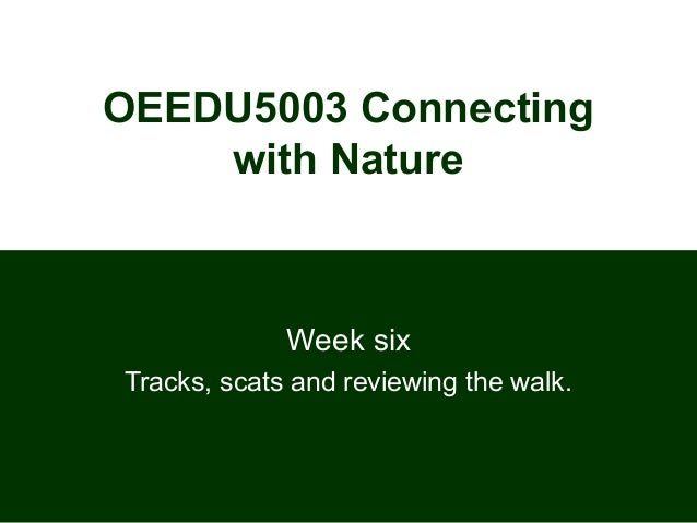 OEEDU5003 Connecting with Nature Week six Tracks, scats and reviewing the walk.