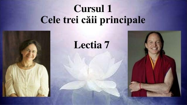 Cursul 1 Cele trei căii principale Lectia 7