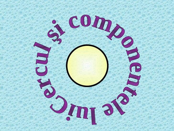 Cercul şi componentele lui