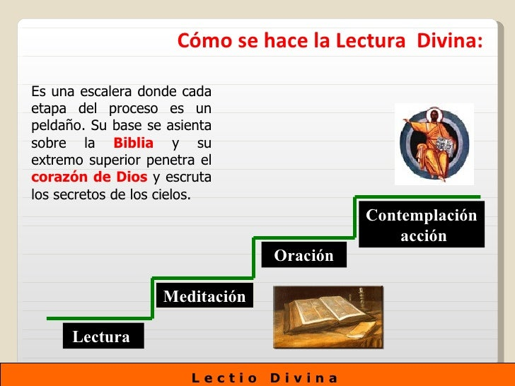 Lectio divina for Como se ase una escalera