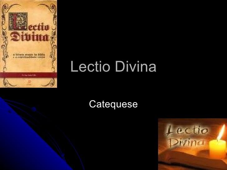 Lectio Divina Catequese